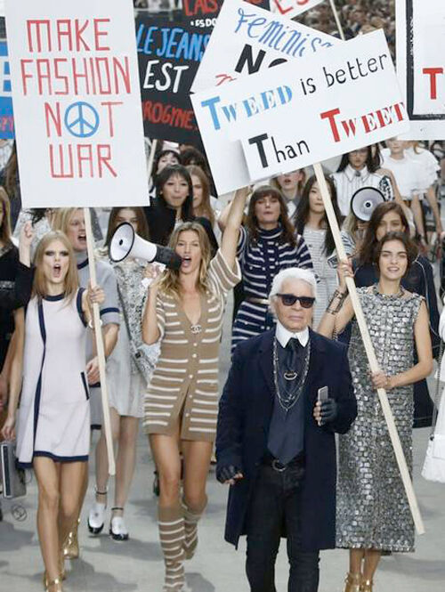 Dare to be a feminist fashionista: why I love Karl Lagerfeld's fashion riot.