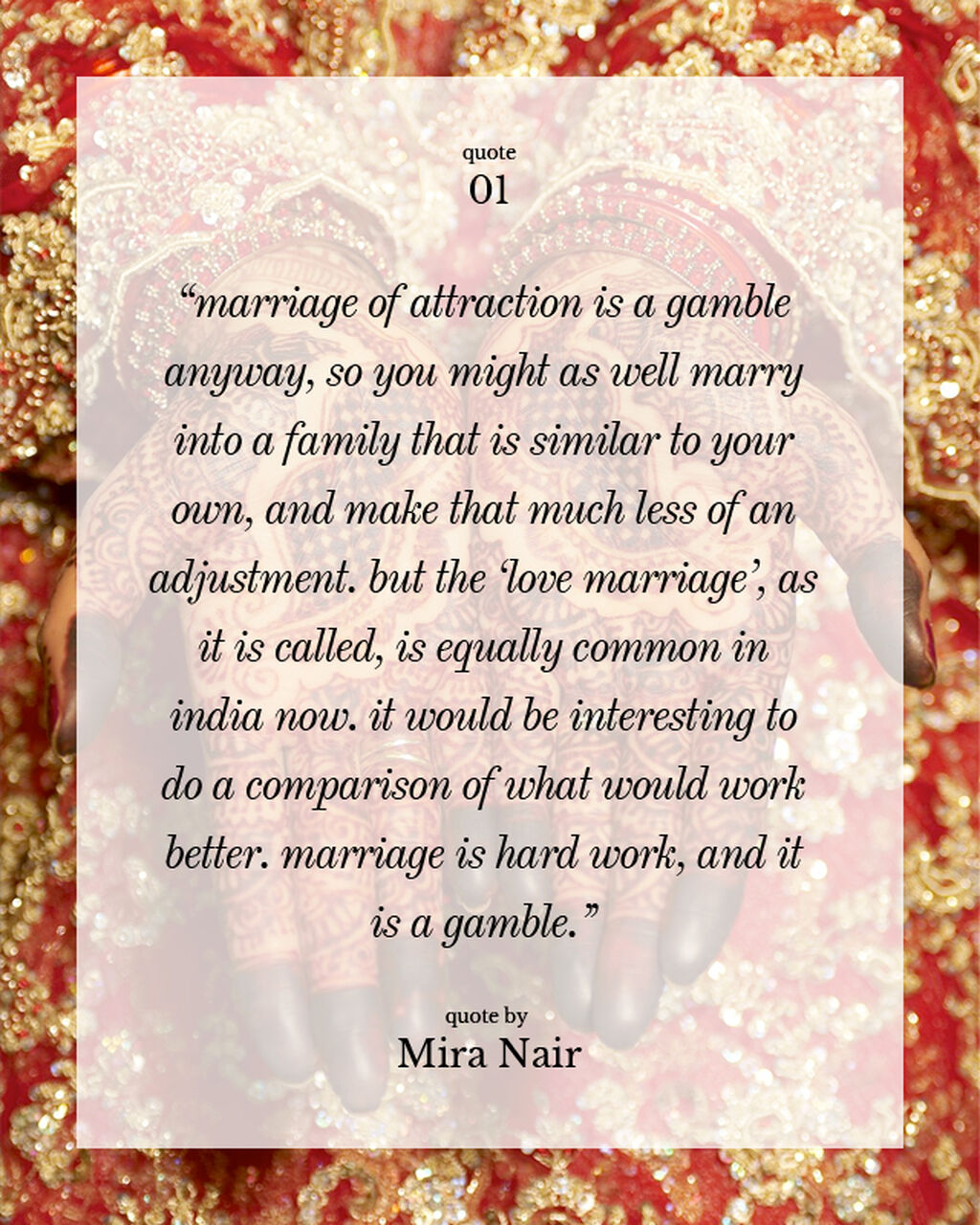 Mira Nair In 5 Quotes