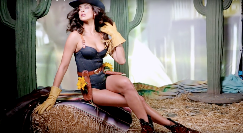 Supermodel Irina Shayk in Calamity Jane body for Love Magazine's Advent Calendar
