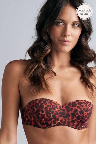 panthera Bikini Oberteil trägerlos