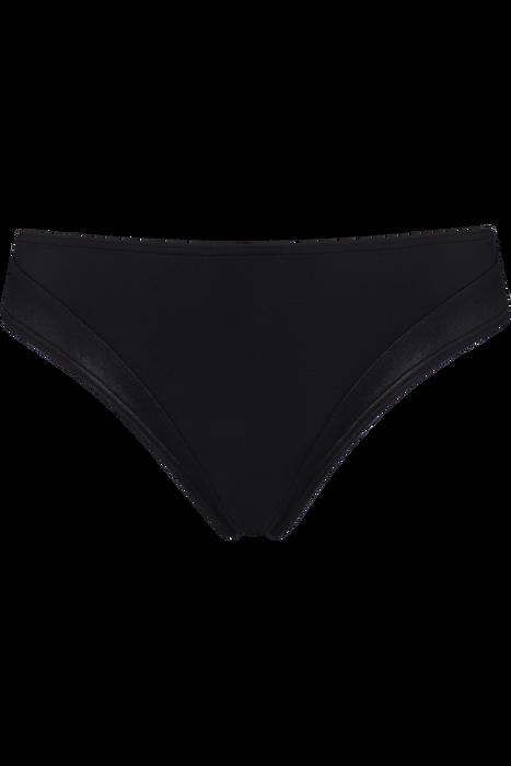 Artikel klicken und genauer betrachten! - Mit diesem wunderschönen schwarzen Bikini-Slip erobern Sie den Strand. Der schwarze Stoff besitzt ein glänzendes Finish und erzeugt so einen unglaublich sinnlichen Look und fühlt sich extrem zart auf Ihrer Haut an. Außerdem bietet diese Bikinihose unglaublichen Tragekomfort. Die Seiten sind 5 cm breit und bedecken Ihren Po und Ihren Leistenbereich vollständig. Ihr Bauch ist zum Teil von dem seidigen, schwarzen Stoff umhüllt. | im Online Shop kaufen