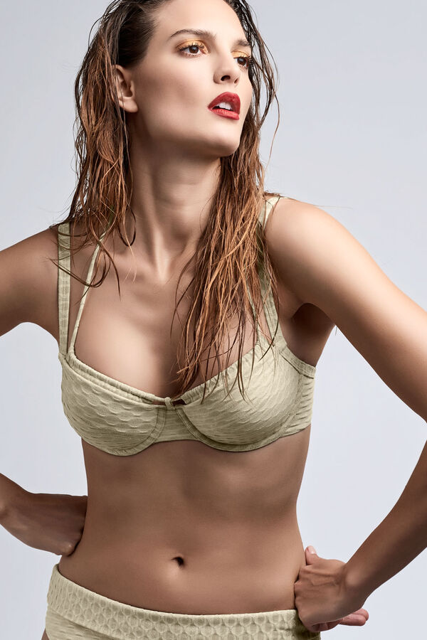 holi vintage plunge balcony bikini top