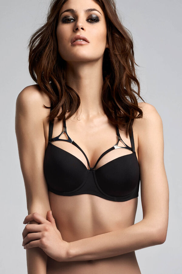 triangle balcony bra + thong black