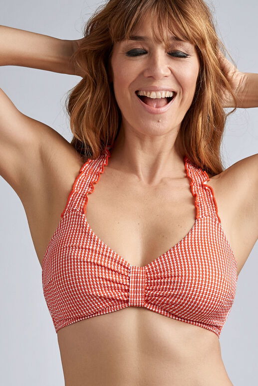 côte d'azur unpadded plunge balcony bikini top