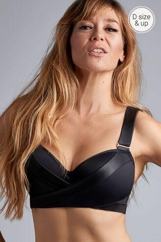 cache coeur plunge balconette Bikini Top