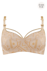 golden karo unpadded balcony bra