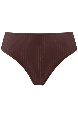 dame de paris 7 cm string  brown with golden lurex  XL