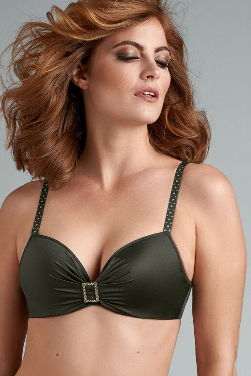 emerald lady push up bra
