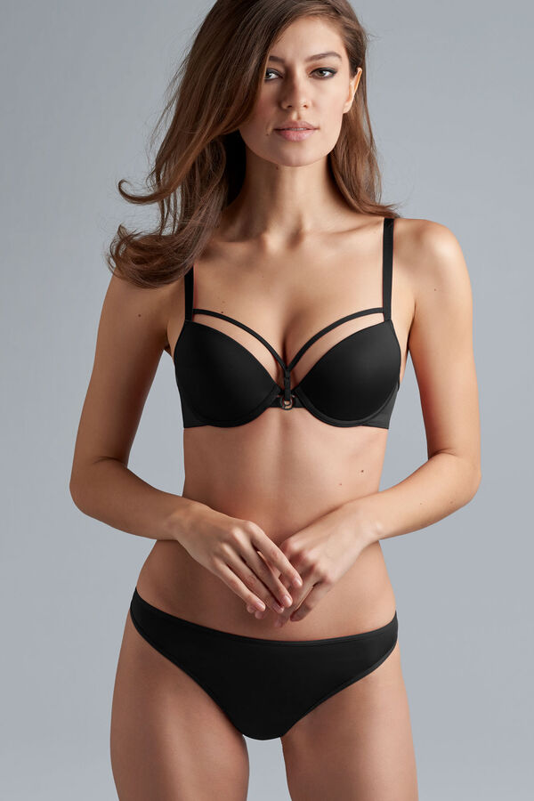 space odyssey push up bra + thong black