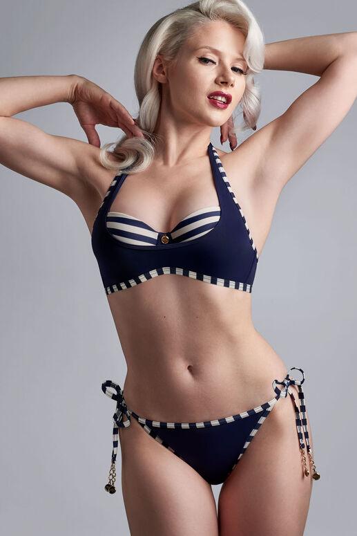 marinière plunge balcony bikini top