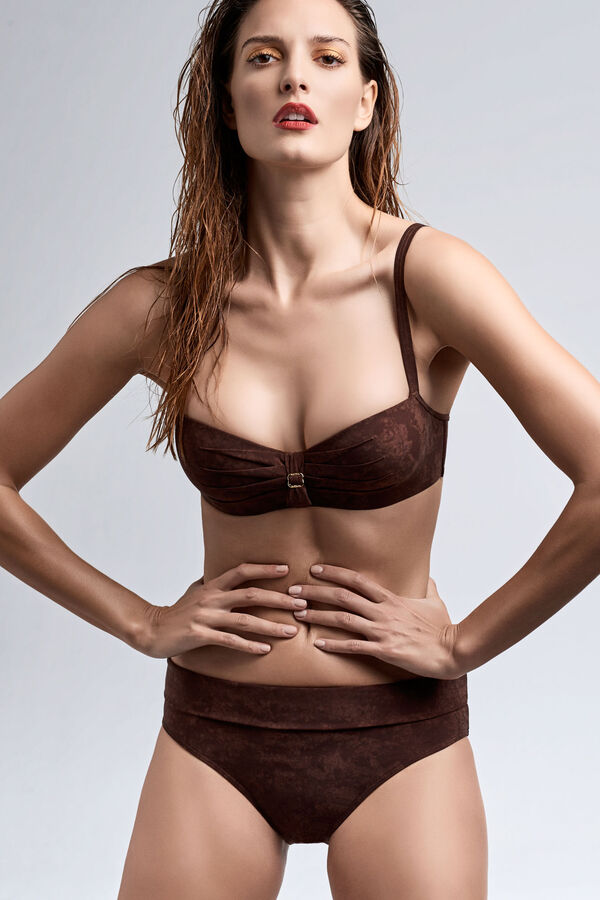 puritsu plunge balcony bikini top