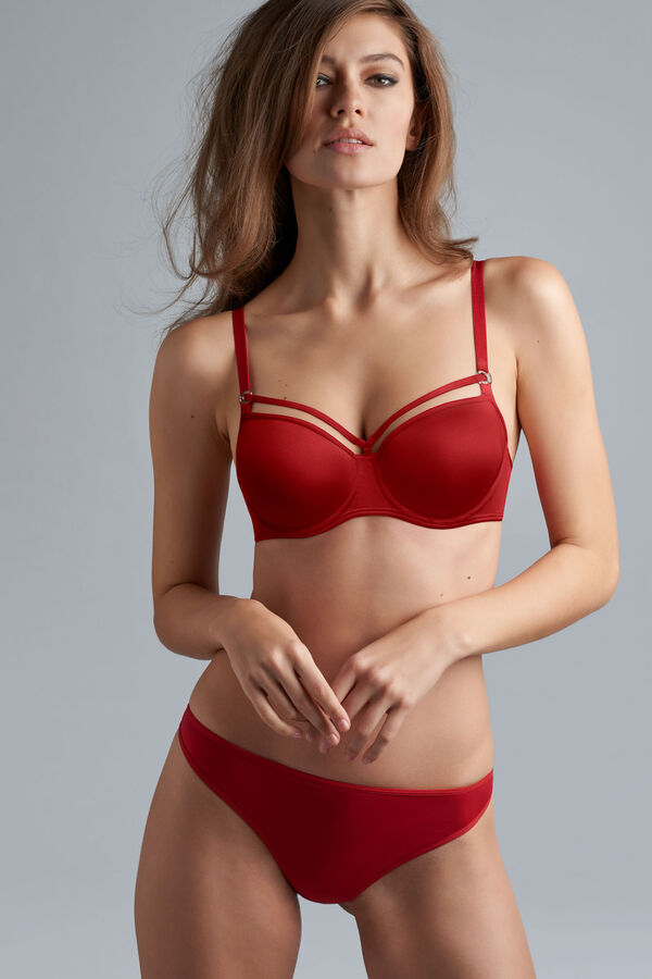 space odyssey push up bra + thong red