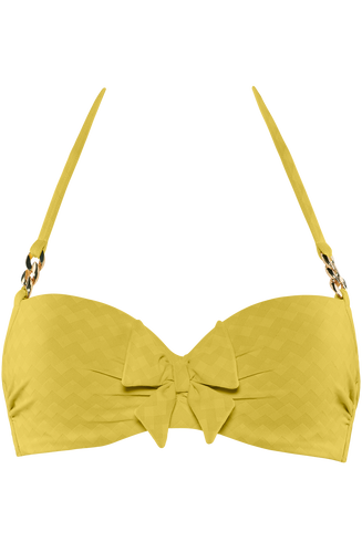 Sunglow Plunge Balconette Bikini Top | Wired Padded Royal Yellow 85e