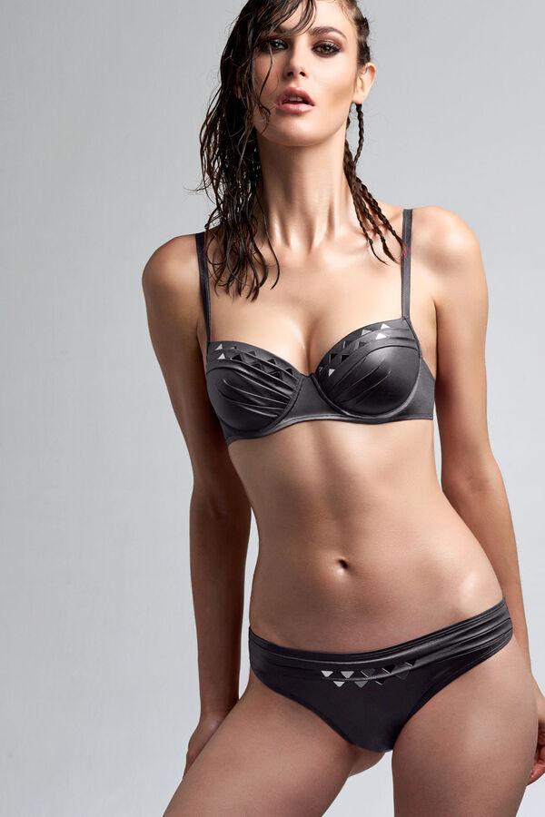 lagertha's reflection plunge balconette bikini top