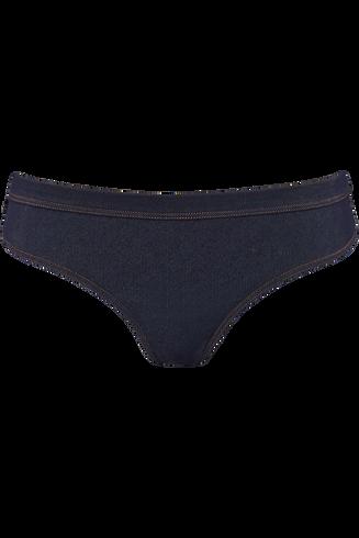 calamity jane 8 cm brazilian briefs |  blue jeans - xs