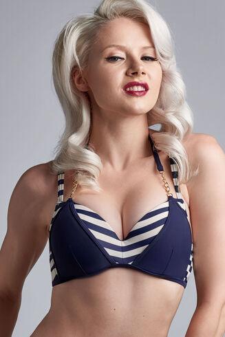 marinière push up bikini top