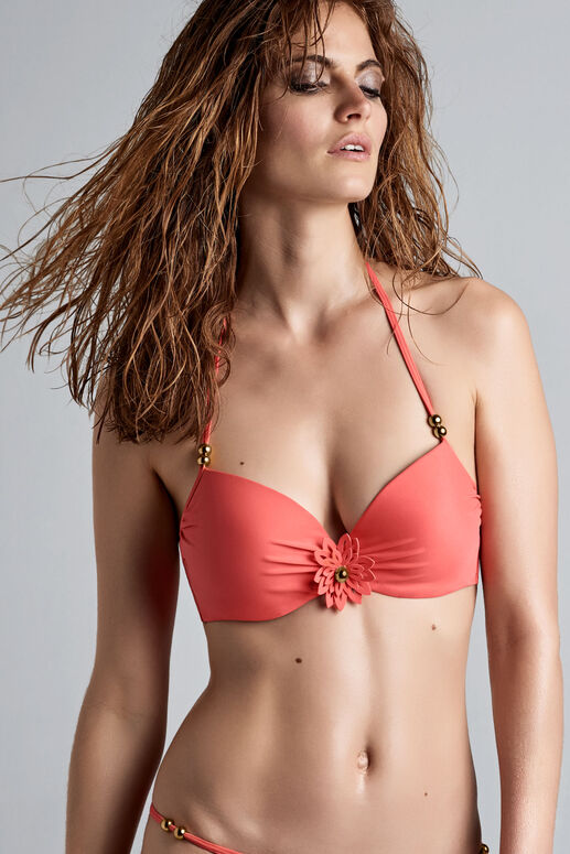la flor push up bikini top