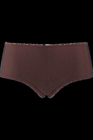 dame de paris 12 cm brazilian shorts  brown with golden lurex  XL