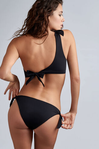 black sea tie and bow bikini briefs