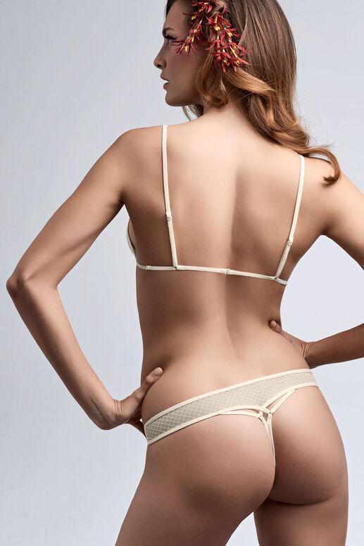 white key triangle bra