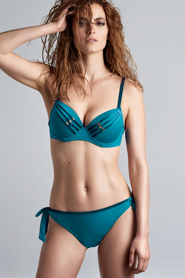 velvet kiss push up bikini top