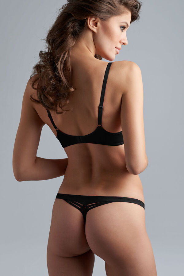dame de paris balcony bra + 2cm thong black