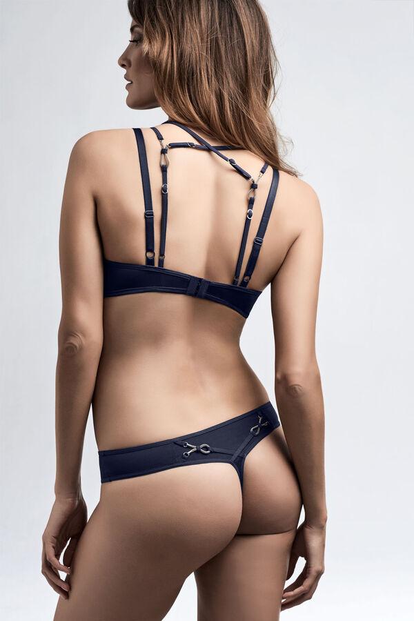 calder push up bra 4 cm thong + midnight blue
