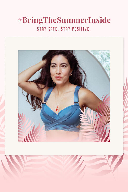 cache coeur plunge balconette Bikini Oberteil