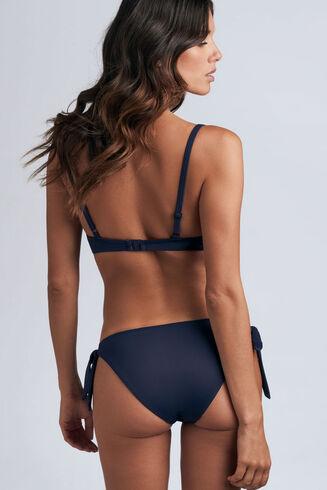 lotus tie and bow slip de bikini