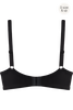 black key plunge balcony bra