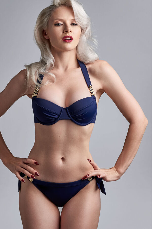 royal navy plunge balconette bikini top