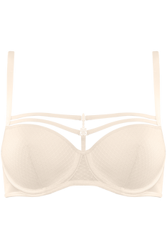 white key plunge balcony bra