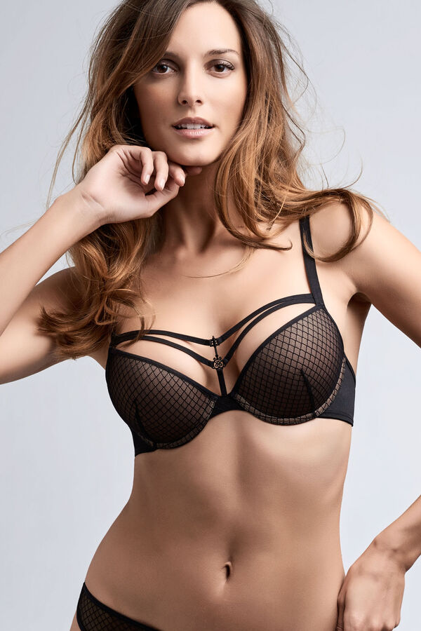 black key push up bra