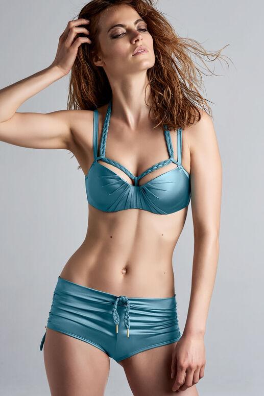 holi glamour plunge balconette bikini top