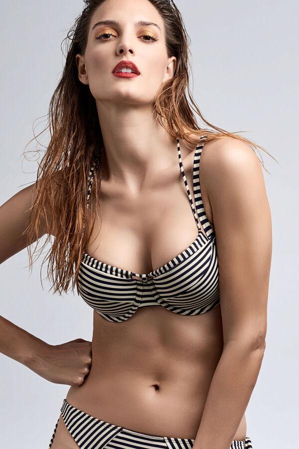 holi vintage haut de bikini balconnet plongeant
