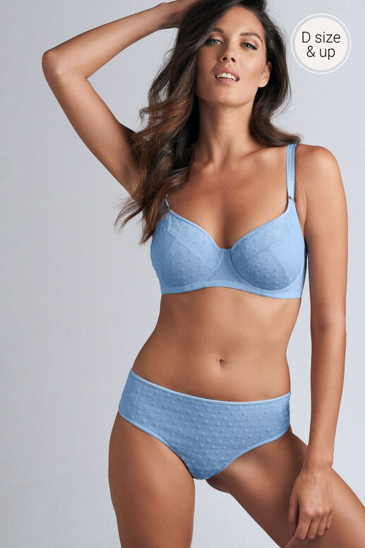 petit point semi padded plunge balcony bra