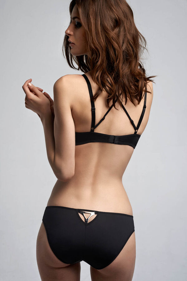 Triangle balcony bra + 5cm briefs black