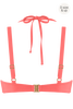 la flor plunge balcony bikini top