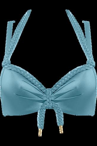 holi glamour push up | wired padded aqua blue - 75E