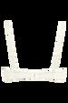 Dame de paris balcony bra + 12cm brazilian shorts ivory