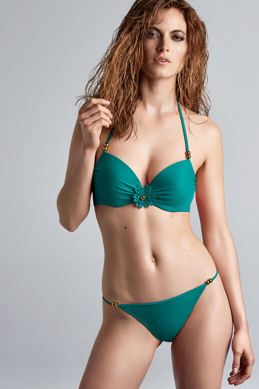 la flor push up bikini top