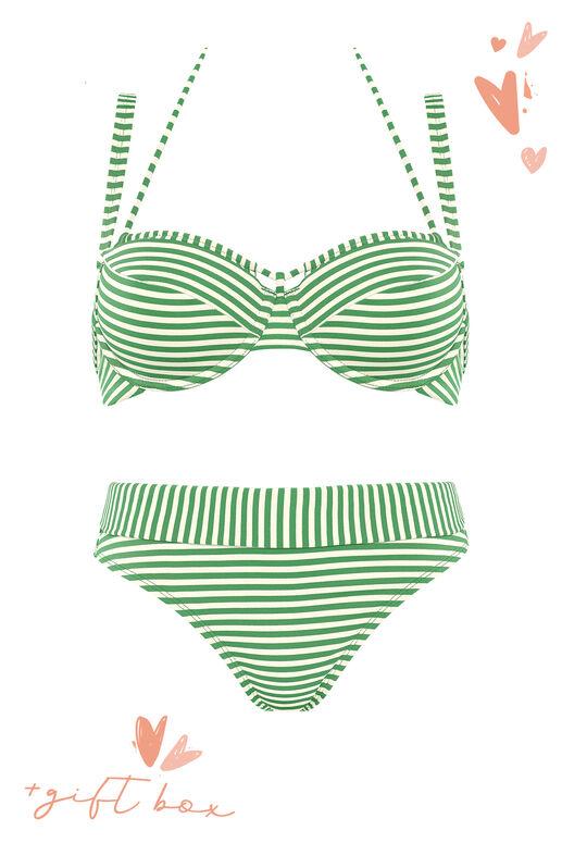 Plunge Balconette Bikinioberteil + fold down Slip