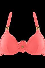 unpadded plunge bikini top