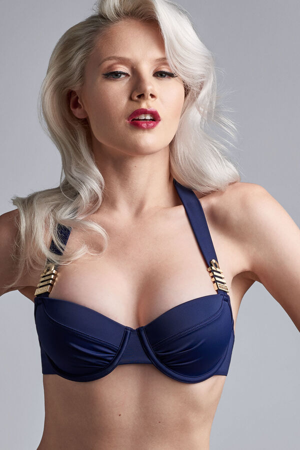 royal navy plunge balcony bikini top
