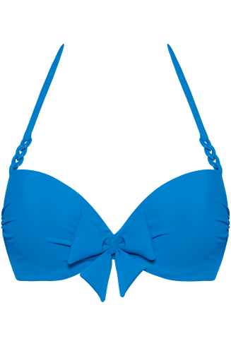 papillon push up | wired padded bright blue - 75C