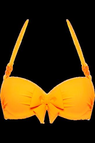 papillon plunge balconette | wired padded eye-popping orange - 80F