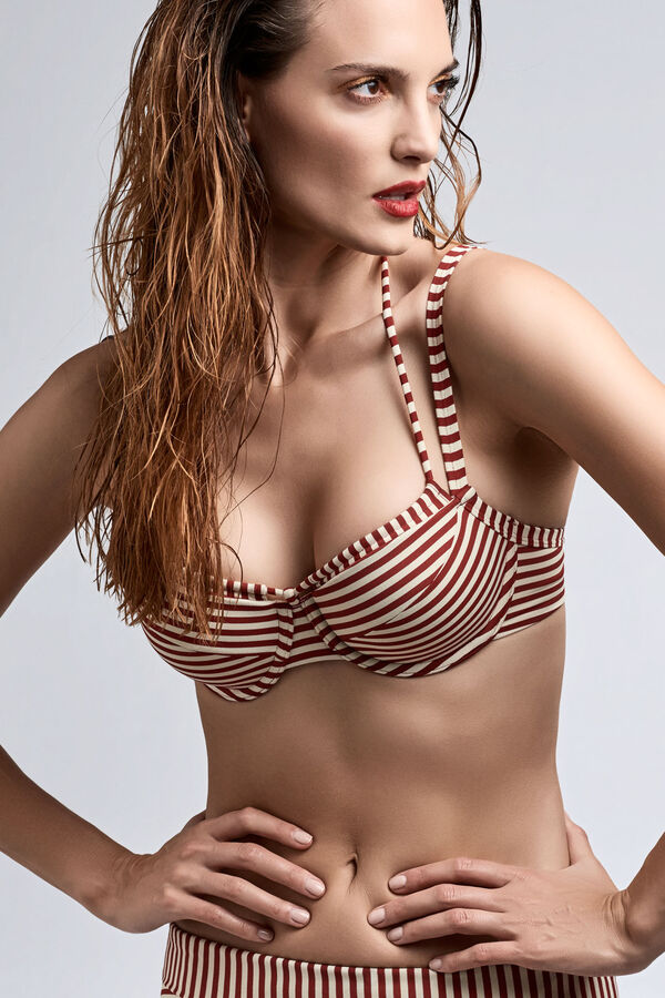 holi vintage Plunge Balconette Bikini-Oberteil