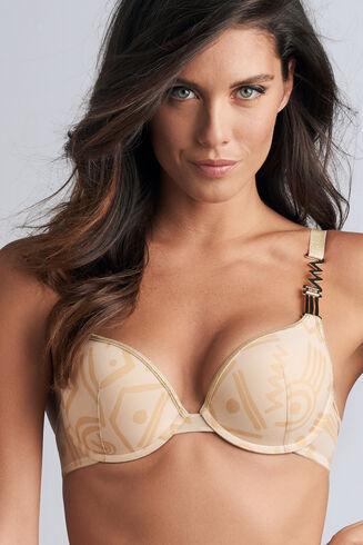 golden karo push up bra