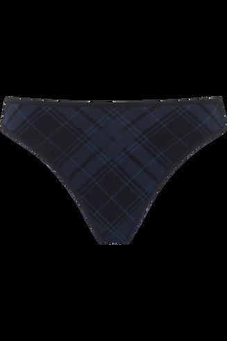 gloria 4 cm thong |  black and insignia blue - s