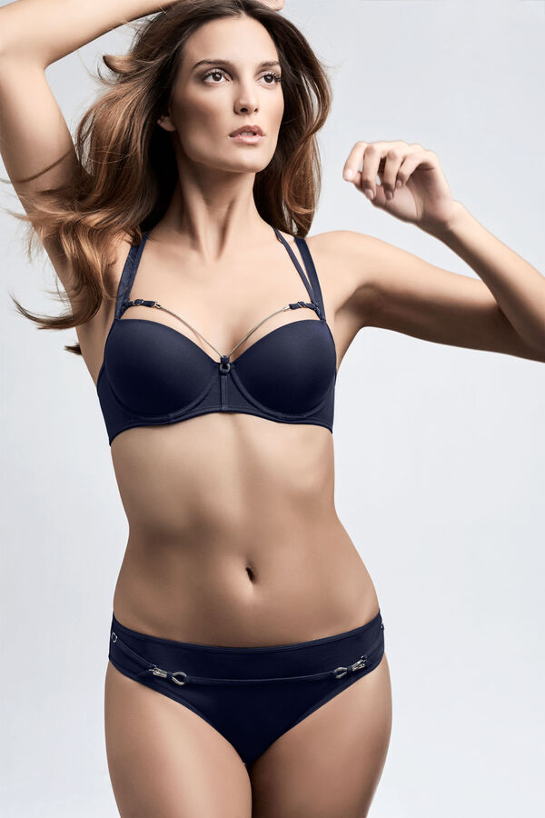 calder plunge balcony bra + 5cm briefs midnight blue